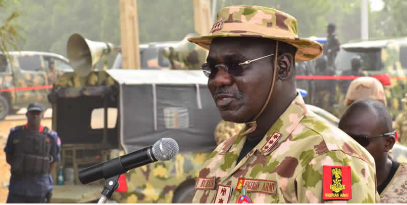 CHIEF OF ARMY STAFF URGES NIGERIANS TO STOP GLORIFYING CRIMINALS.